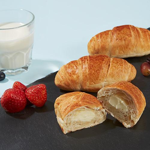 Milk filled croissant