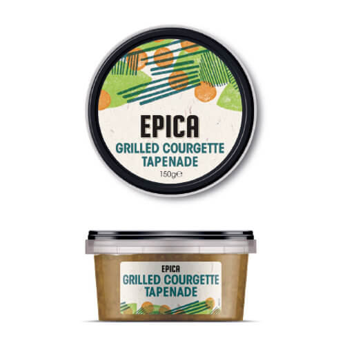 epica grilled courgette tapenade